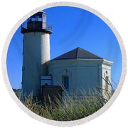 Round Beach Towel featuring the photograph Lighthouse by Rory Sagner
