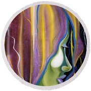 Lights II Round Beach Towel