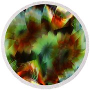 Like Stained Glass Round Beach Towel
