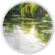 Lilly Lake Round Beach Towel