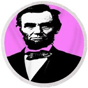 Round Beach Towel featuring the digital art Lincoln by George Pedro