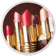 Lipstick Tubes Round Beach Towel