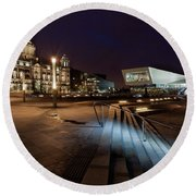Liverpool - The Old And The New  Round Beach Towel