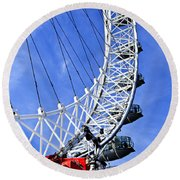 London Eye Round Beach Towel by Elena Elisseeva