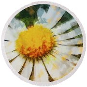 Lonely Daisy Round Beach Towel
