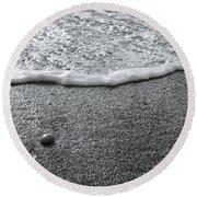 Lonely Pebble Round Beach Towel