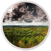 Lookout Trail Round Beach Towel