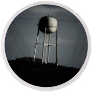 Round Beach Towel featuring the photograph Lopsided Tower by Jessica Shelton