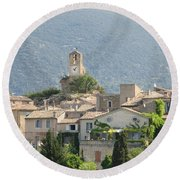 Round Beach Towel featuring the photograph Lourmarin In Provence by Carla Parris
