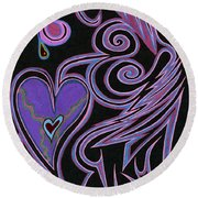 Love So Precious Round Beach Towel