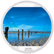 Low Tide Round Beach Towel by Beverly Cash