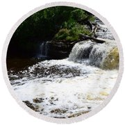 Lower Tahquamenon Falls Lll Round Beach Towel
