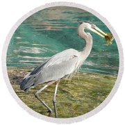 Round Beach Towel featuring the photograph Lunchtime by Laurel Best