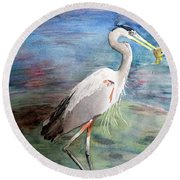 Lunchtime Watercolour Round Beach Towel by Laurel Best