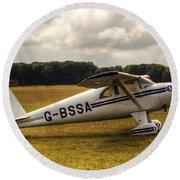 Luscombe 8e Deluxe 2 Seater Plane Round Beach Towel
