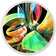Round Beach Towel featuring the digital art Magic Rings by Phil Perkins