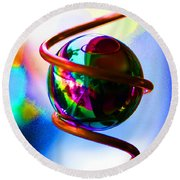 Magical Sphere Round Beach Towel by Diana Haronis