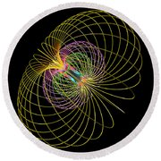 Magnetism 2 Round Beach Towel