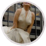 Magnificent Marilyn Round Beach Towel by Julia Wilcox