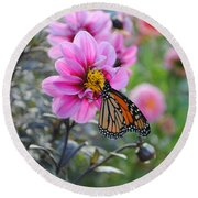Round Beach Towel featuring the photograph Making Things New by Michael Frank Jr