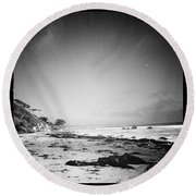 Round Beach Towel featuring the photograph Malibu Peace And Tranquility by Nina Prommer