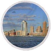 Manhattan - Hudson View Round Beach Towel