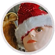Manniquin Santa 2 Round Beach Towel by Bill Owen