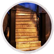Marble Stairs Round Beach Towel