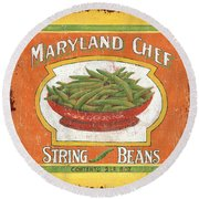 Maryland Chef Beans Round Beach Towel