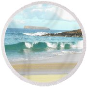 Maui Hawaii Beach Round Beach Towel
