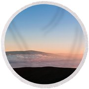 Mauna Loa Sunset Round Beach Towel