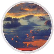 Mediterranean Sky Round Beach Towel by Mark Greenberg