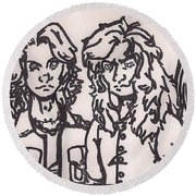 Megadeth Round Beach Towel by Jeremiah Colley