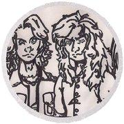 Megadeth Round Beach Towel