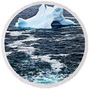 Melting Iceberg Round Beach Towel