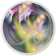Memoria Futurorum -abstract Art Round Beach Towel