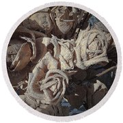Memory Rose 2 Round Beach Towel