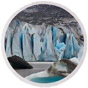Mendenhall Glacier Juneau Alaska 1698 Round Beach Towel