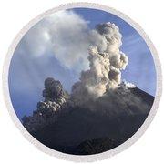 Merapi Eruption, Java Island, Indonesia Round Beach Towel
