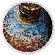 Round Beach Towel featuring the photograph Metallic Fluid by Pedro Cardona