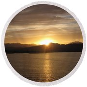 Round Beach Towel featuring the photograph Mexican Sunset by Marilyn Wilson