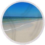 Round Beach Towel featuring the photograph Mexico Beach by Kay Lovingood