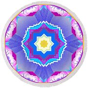 Round Beach Towel featuring the digital art Miami Sunsets by Mario Carini