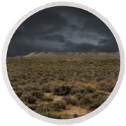 Midnight On The Pairie In Wyoming Round Beach Towel