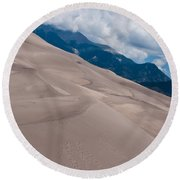 Miles Of Sand Round Beach Towel by Colleen Coccia