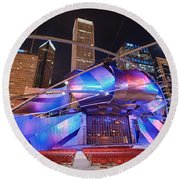 Round Beach Towel featuring the photograph Millennium Park by Sebastian Musial