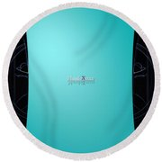 Mint Side Round Beach Towel