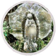 Miracle In My Garden Round Beach Towel