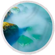 Misty Water Round Beach Towel