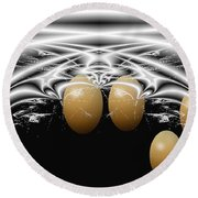 Birth Of Quadruplets, From The Serie Mystica Round Beach Towel